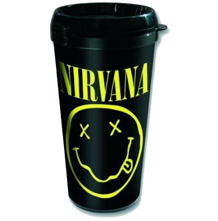 Nirvana - Smiley - Travelmug