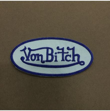 Von Bitch - Ljusblå/Blå Logo - Tygmärke