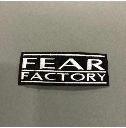 Fear Factory - Svart/Vit Logo - Tygmärke