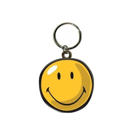 Smiley - Gummi Nyckelring