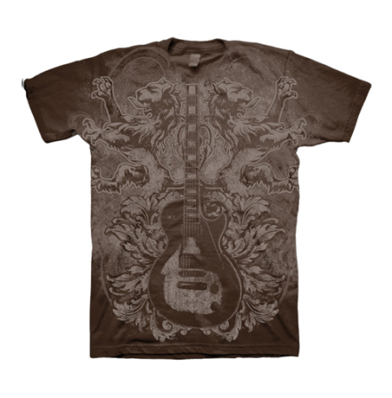 T-Shirt - Guitar Lions