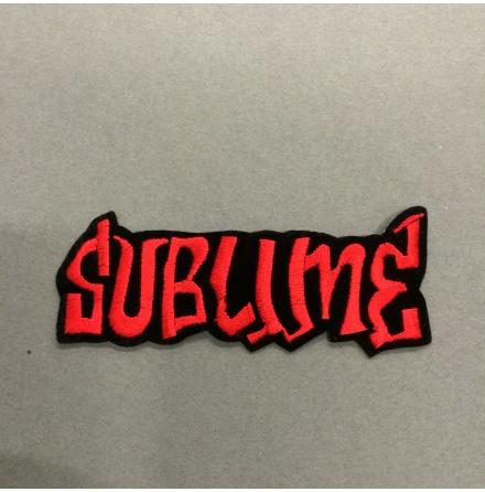 Sublime - Svart/Röd Logo - Tygmärke