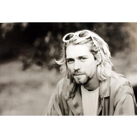 Kurt Cobain - Profil Glasögon  -  Poster