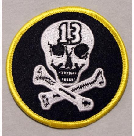Tygmärke - 13-skull - Tygmärke