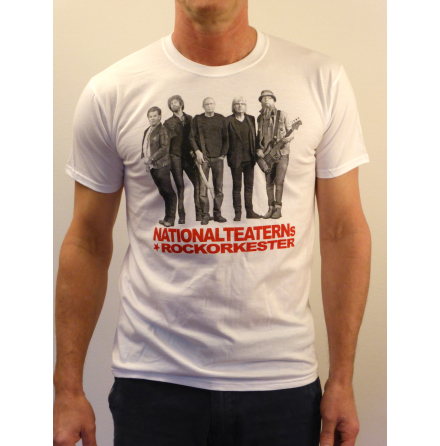 Vit t-shirt - Nationalteaterns Rockorkester 2014