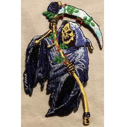 Alchemy - Blue Reaper with Sycle - Tygmärke
