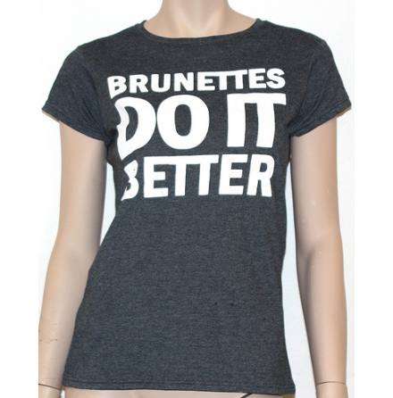 Dam Topp - Brunettes Do It Better - Grå