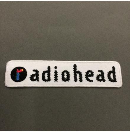 Radiohead - Vit/Svart Logo - Tygmärke