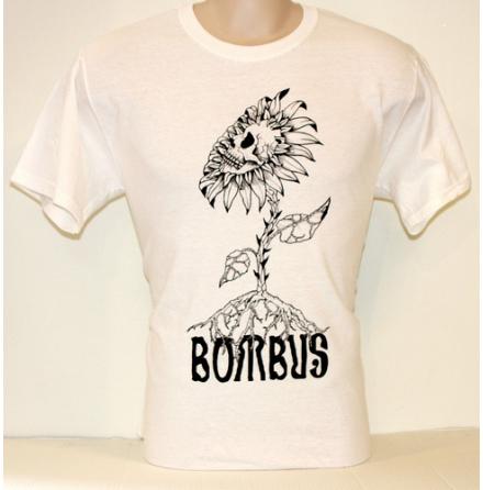 T-Shirt - Skullflower Vit