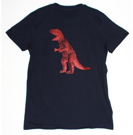 T-Shirt - Dino - Mörkblå
