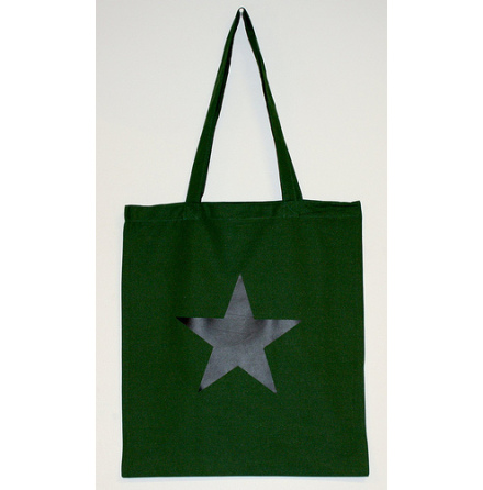 Tygkasse - Svart Stjärna (Militärgrön)