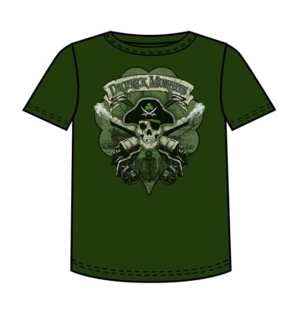 T-Shirt - Skull Cannon Anchor