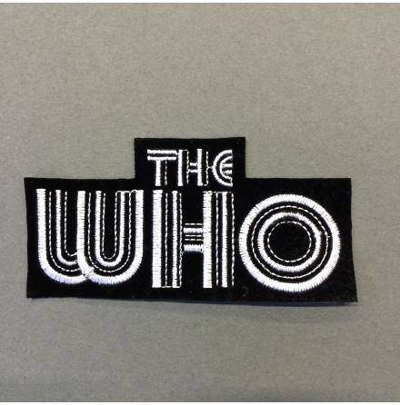 The Who - Svart/Vit Logo - Tygmärke