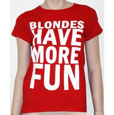 Dam Topp - Blondes Have More Fun - Röd