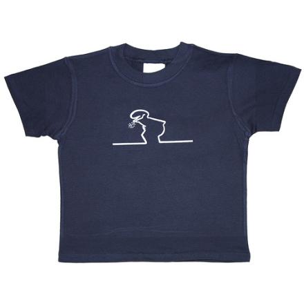 Barn T-Shirt - Linus - Mörkblå
