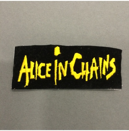 Alice In Chains - Svart/Gul Logo Text - Tygmärke