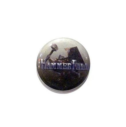Hammerfall - Grå - Badge