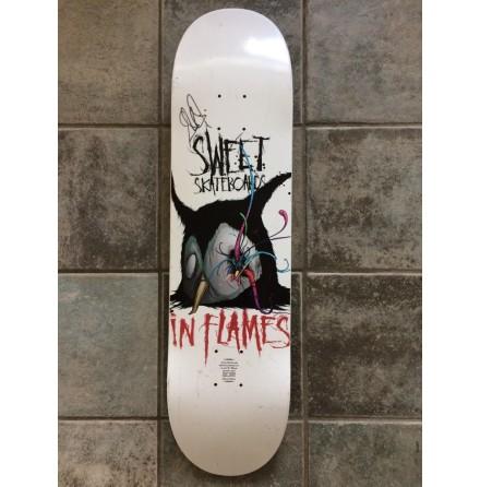 in flames skateboard