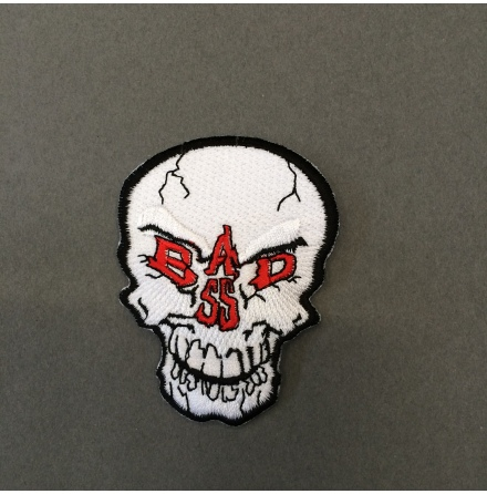 Bad Ass Skull - Tygmärke
