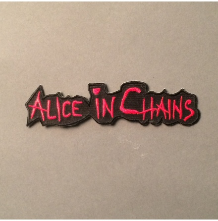Alice In Chains - Svart/Röd Logo - Tygmärke