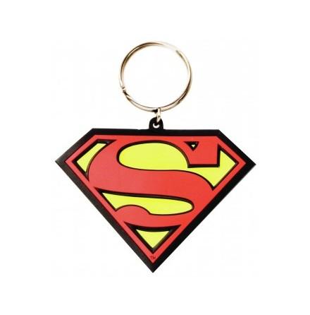 Superman - Logo Gummi nyckelring