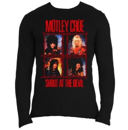 Motley Crue LS Mens Tee: Shout Wire