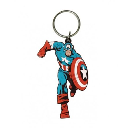 Captain America - Nyckelring Gummi