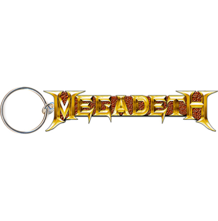 Megadeth - Guld Logo - Nyckelring