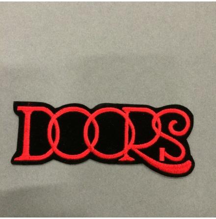 The Doors - Svart/Röd Logo - Tygmärke