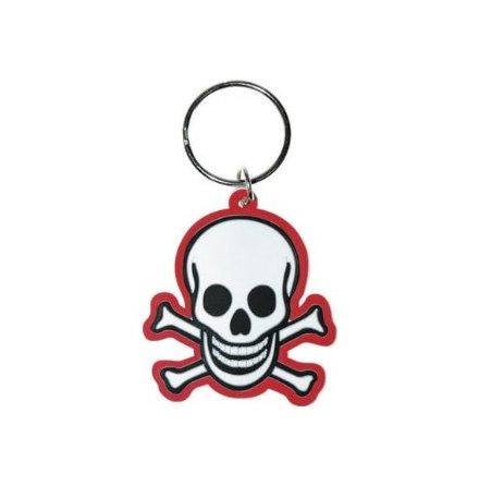 Skull N Bones - Gummi Nyckelring