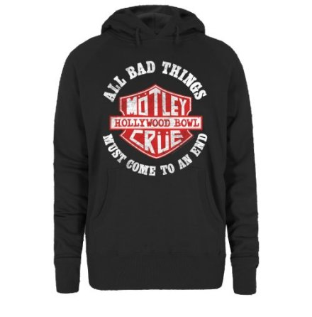 Motley Crue Womens Hooded Top: Bad Boys Shield