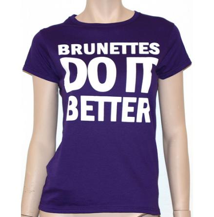 Dam Topp - Brunettes Do It Better - Lila