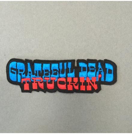 Grateful Dead - Truckin´ Blå/Röd - Tygmärke