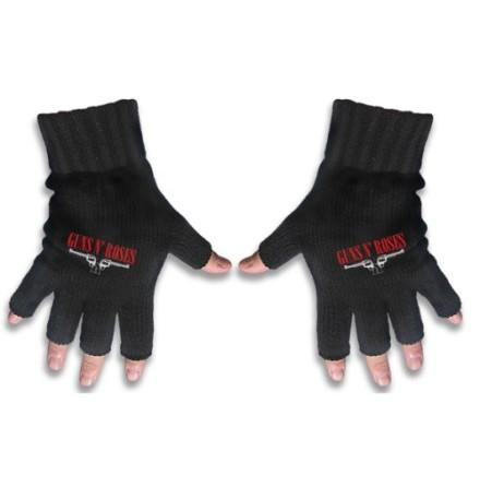 Guns N' Roses Fingerless Gloves: Logo & Pistols