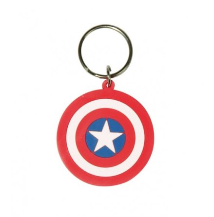 Captain America - Logo - Nyckelring Gummi