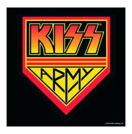 Kiss - Coaster -  Army Pennant