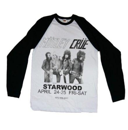 Motley Crue Raglan Mens Tee: Starwood Flyer 1981