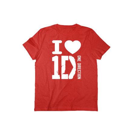 T-Shirt - I Love Röd