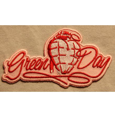 Green Day - Pink Heart - Tygmärke